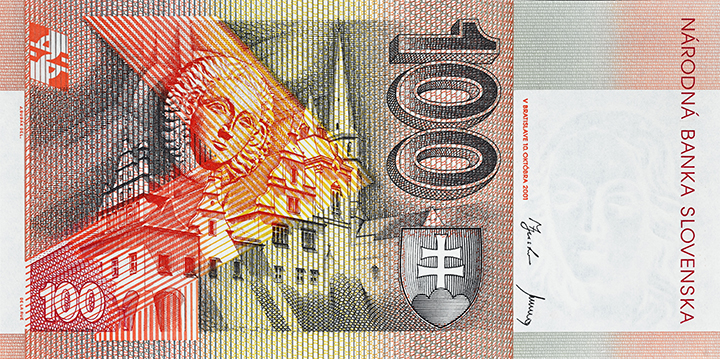 100 Slovak koruna banknote backside