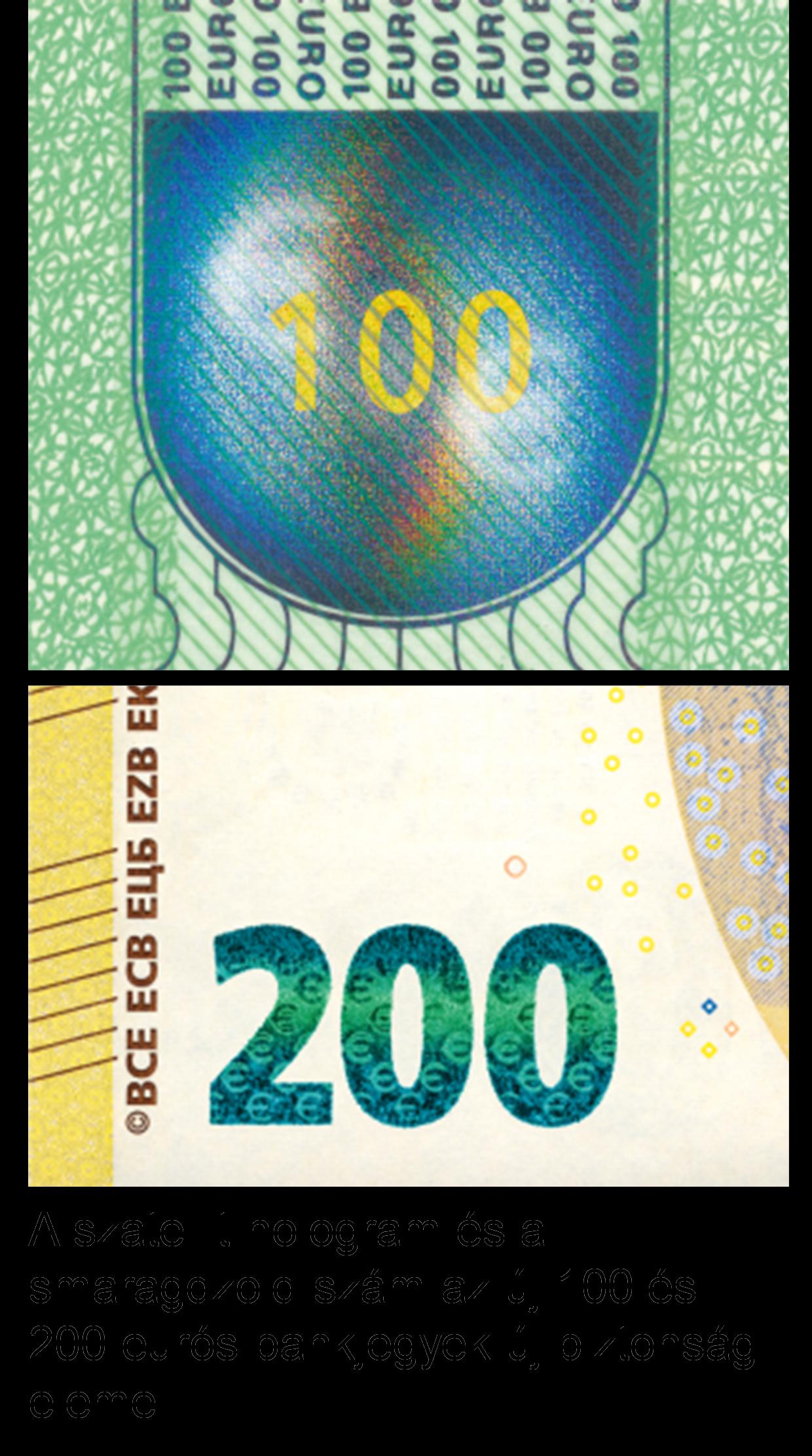 2f8e5536a134 Az EKB és az euroövezeti NKB-k tájékoztató kampányt folytattak, hogy  felkészítsék a nagyközönséget és a hivatásos készpénzkezelőket az új 100  €-s és 200 €-s ...