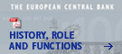 Cover of the book:  The European Central Bank – History, role and functions